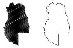 Mendoza översiktsvektor stock illustrationer