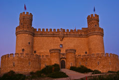 Mendoza castle. The Mendoza Castle, situated in Madrid region, is a fortress-palace from the 15th century. It is the best preserved castle from the few of it´s Royalty Free Stock Photo