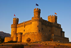 Mendoza castle. The Mendoza Castle, situated in Madrid region, is a fortress-palace from the 15th century. It is the best preserved castle from the few of it´s Stock Images