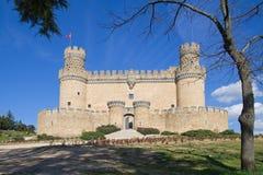 Mendoza Castle. In Manzanares del Real (Madrid, Spain stock photo