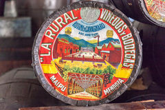 Mendoza rurale Argentina di simbolo della La Fotografia Stock