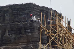 Mendut寺庙改善 免版税库存图片