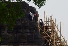 Mendut tempelförbättring Fotografering för Bildbyråer