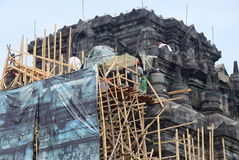 Mendut temple improvement. Stock Images