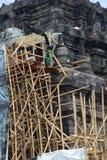 Mendut temple improvement. Royalty Free Stock Photo