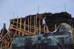 Mendut temple improvement. Royalty Free Stock Photos