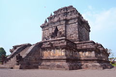 Mendut temple, Indonesia. Mendut is one of several temples in the area which all date back to around 8th and 9th century. Mendut is often mentioned together Stock Photo