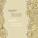Mendy blommar kortet stock illustrationer