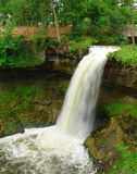 Menehaha Falls. A picture of Menehaha waterfall in Minneapolis Minnesota Royalty Free Stock Images