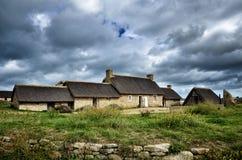Meneham-Dorf, Kerlouan, Finistere, Brittany Bretagne, Frankreich lizenzfreies stockbild