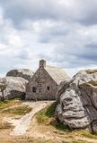 Meneham house in Brittany in France. Meneham in french Brittany house surrounded by the rocks Royalty Free Stock Photography