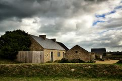 Meneham village, Kerlouan, Finistere, Brittany Bretagne, France. Meneham is an old village of peasant-fishermen-seaweeds. Nestled between the rocks of the Côte Royalty Free Stock Photography