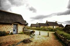 Meneham village, Kerlouan, Finistere, Brittany Bretagne, France. Meneham is an old village of peasant-fishermen-seaweeds. Nestled between the rocks of the Côte Stock Photography