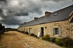 Meneham village, Kerlouan, Finistere, Brittany Bretagne, France. Meneham is an old village of peasant-fishermen-seaweeds. Nestled between the rocks of the Côte Royalty Free Stock Photos