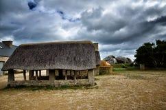 Meneham village, Kerlouan, Finistere, Brittany Bretagne, France. Meneham is an old village of peasant-fishermen-seaweeds. Nestled between the rocks of the Côte Stock Photos