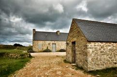 Meneham village, Kerlouan, Finistere, Brittany Bretagne, France. Meneham is an old village of peasant, fishermen, seaweeds. Nestled between the rocks of the Royalty Free Stock Photos