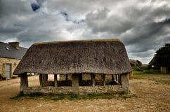 Meneham village, Kerlouan, Finistere, Brittany Bretagne, France. Meneham is an old village of peasant, fishermen, seaweeds. Nestled between the rocks of the Stock Photography