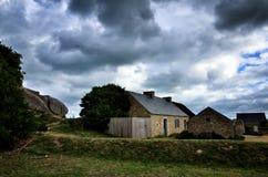 Meneham village, Kerlouan, Finistere, Brittany Bretagne, France. Meneham is an old village of peasant-fishermen-seaweeds. Nestled between the rocks of the Côte Royalty Free Stock Image