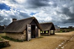 Meneham wioska, Kerlouan, Finistere, Brittany Bretagne, Francja Fotografia Royalty Free