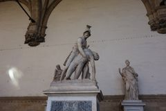 Menelaus Carrying the Body of Patroclus statue