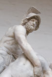 Menelaus supporting patroclus Stock Photos