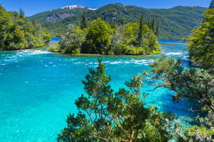 Menendez river, Los Alerces National park in Patagonia, Argentina Stock Photos