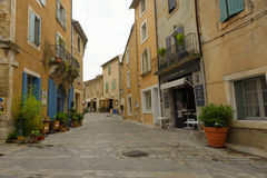 Menerbes in Provence Stockbild
