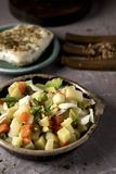 Menestra, spanish cooked mixed vegetables royalty free stock photography