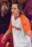 Meneur Celine Dumerc. EuroLeague 2010. Images stock