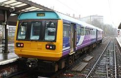 Meneur de train Preston à unités multiples diesel de la classe 142 Photo libre de droits
