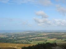 Menez-Hom och hed i Brittany royaltyfri fotografi