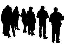 Menge auf Straße Lizenzfreies Stockfoto