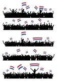 Menge den Niederlanden zujubeln oder protestierend Lizenzfreie Stockfotografie