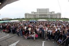Menge der Zuschauer am Ereignis Stockfotografie
