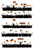 Menge Deutschland zujubeln oder protestierend Lizenzfreies Stockbild