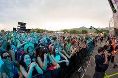 Menge in einem Konzert an FLUNKEREI Festival Lizenzfreie Stockbilder