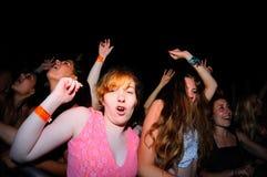 Menge an FLUNKEREI Festival Stockfotografie