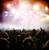 Menge am Konzert Stockbild
