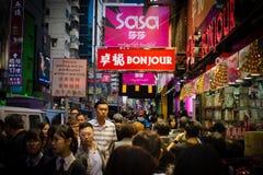 Menge in Mongkok Hong Kong stockfotografie
