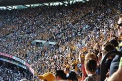Menge an Sport- Stadion Magnetkardiogramm Melbourne Victoria Australia Lizenzfreie Stockfotos