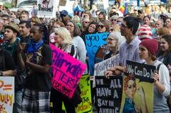 Menge am Trumpf-Protest Stockfoto