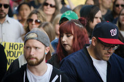 Menge am Trumpf-Protest Stockbild