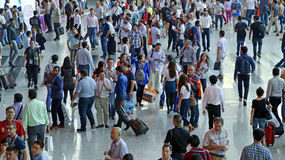 Menge von Besuchern am 118. Bezirk angemessen, Guangzhou, Porzellan Lizenzfreie Stockfotografie