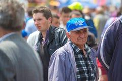 Menge von Leuten an der 83. traditionellen Landwirtschaftsausstellung in Novi Sa Lizenzfreie Stockfotografie
