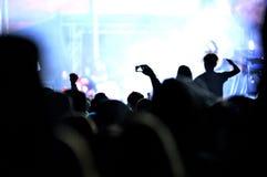 Menge von partying Leuten an einem Livekonzert Stockbild