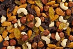 Mengeling van droge noten Stock Afbeelding