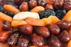 Mengeling van droog fruit Stock Foto's