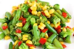 Mengeling van gekookte groente Royalty-vrije Stock Afbeelding