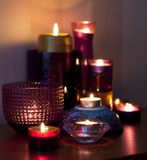 Mengeling van kaarsen Stock Afbeeldingen