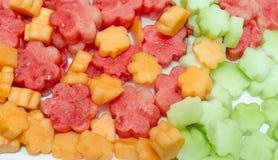 Mengeling van kleurrijk fruit Royalty-vrije Stock Foto's
